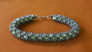 Браслет из бисера.  Ажурный жгут.  Бисероплетение.  Мастер класс / Wiring of beads. Beading(Если Вы желаете приобрести какое то из украшений МК которых предоставлено на этом канале приглашаю в Инста..., 2015-06-26T14:39:57.000Z)