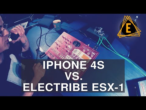 IPhone 4s VS. Electribe ESX-1 - Making Dubby Techno