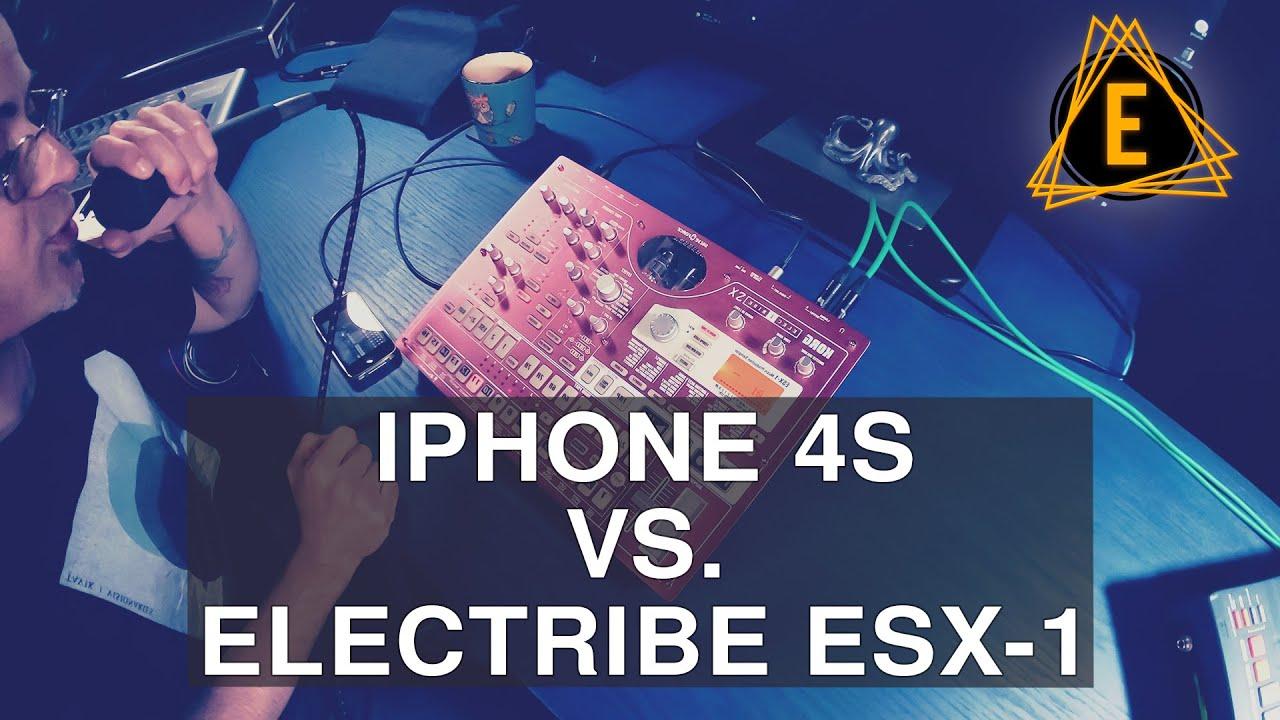 iPhone 4s VS. Electribe ESX-1 - Making Dubby Techno