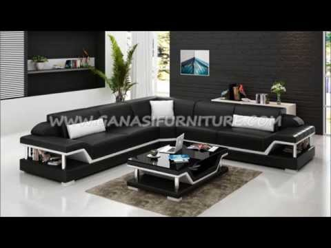 2015 Modern sofa design, Italian leather corner sofa, living room ...