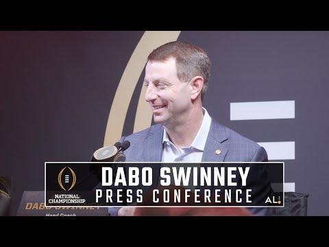 Clemson's Dabo Swinney addresses media before facing Alabama in national championship