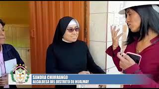 ALCALDESA INSPECCIONA INICIO DEL PROCESO DE ASFALTADO EN SECTOR LOS HUACOS - HUALMAY