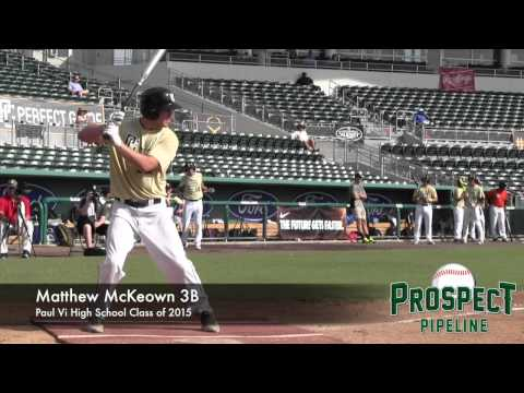 Matthew McKeown Prospect Video, 3B, Paul Vi High School Class of 2015