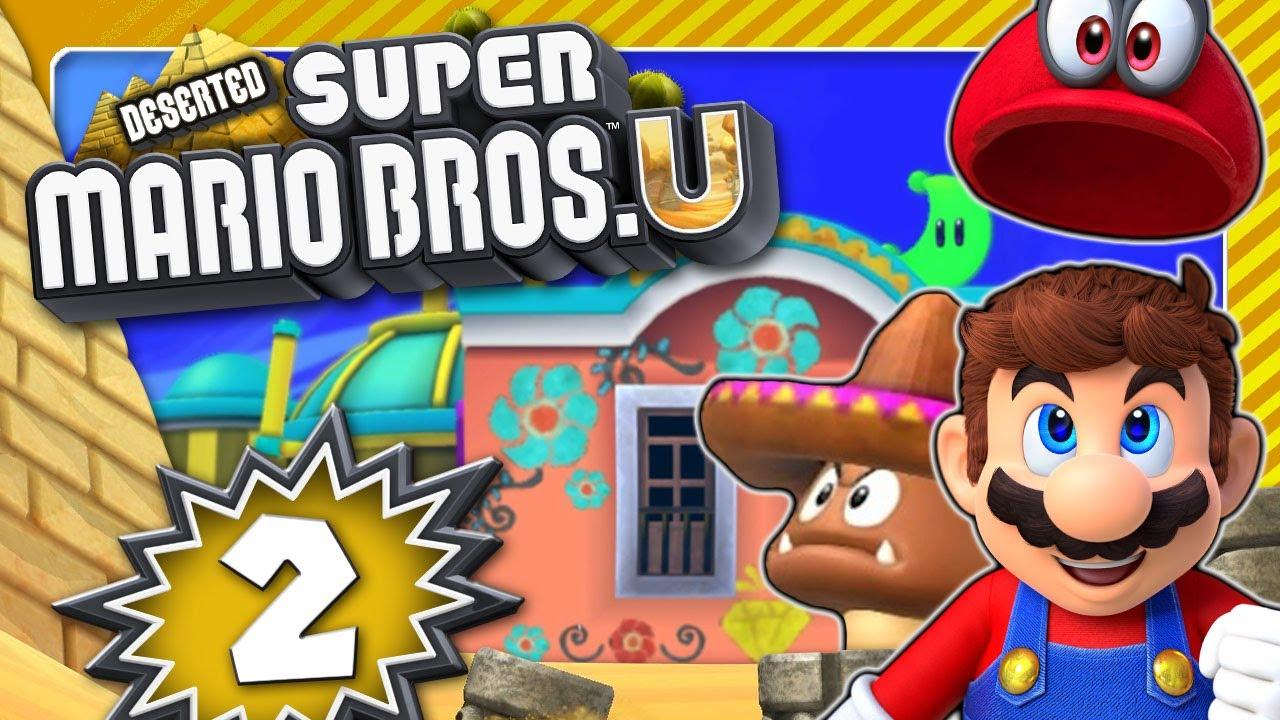 DESERTED SUPER MARIO BROS. U 🏜️ #2: Mario Odyssey Level?!