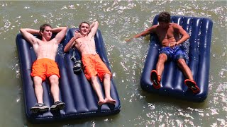 AIR MATTRESSES ON THE LAKE!