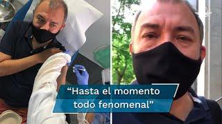 Le aplicaron la vacuna experimental, que pertenece al laboratorio Janssen, igual que a 190 personas más en España; ruega que sea exitosa y se acabe esta pesadilla para el mundo