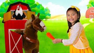 웬디는동물과농장을돌보는농부가상놀이를함
