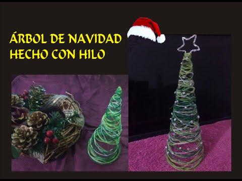 Rbol de navidad hecho con hilo youtube - Arbol de navidad hecho en casa ...