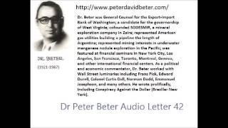 Dr. Peter David Beter Audio Letter 42: Rockfeller; Pope And Bolsheviks; UFO - January 31, 1979