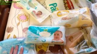 Покупки для новорожденного № 9. Средства гигиены + обзор подгузников и салфеток.