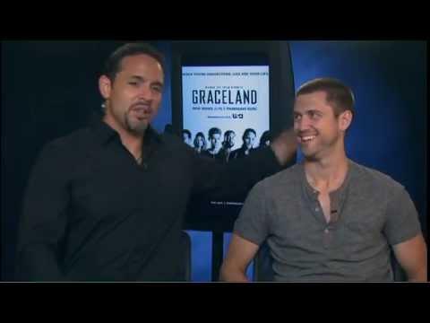 Graceland Season 1 Exclusive: Daniel Sunjata and Aaron Tveit