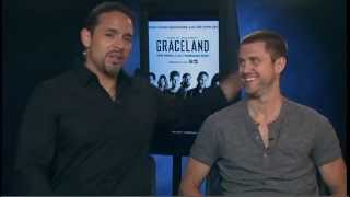 Graceland Season 1 Exclusive: Daniel Sunjata and Aaron Tveit
