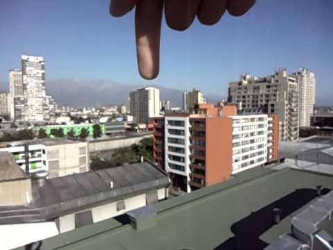 Vista De Santiago Desde La Terraza De Mi Edificio En La
