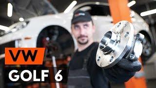 Byta Hjullagersats fram vänster höger på VW GOLF VI (5K1) - videoinstruktioner