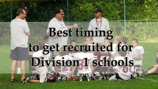 Best Timing to Get Recruited by Division 1 Schools With Tim Ryerson And Wendy Lynne