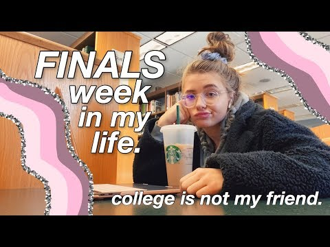 COLLEGE FINALS WEEK VLOG. (prepare For The Tears)