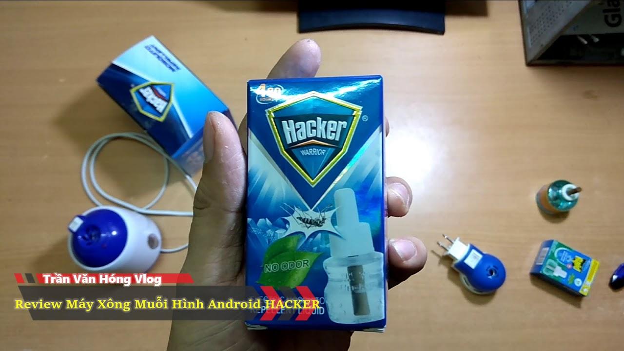 Review Máy Xông Muỗi Hình Android hiệu Hacker |Văn Hóng