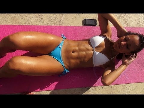 Crunches!! Sit-UPs!! 10 Minutes Sexy Bikini Abs Workout