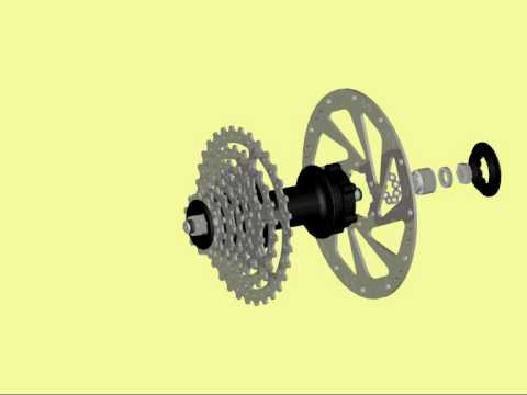 Bicycle Hub And Cassette Assembly Youtube