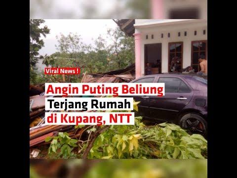 Angin Puting Beliung Terjang Rumah di Kupang, NTT