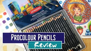 New Derwent Procolour Colored Pencils Review and Demonstration