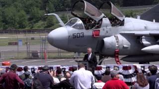Navy EA-6B Prowler Welcoming Ceremony