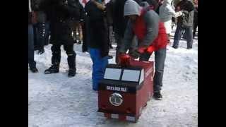 Accueil pour Couillard le Syndicat des pompiers 01