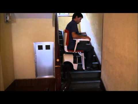 Silla salva escaleras discapacitados ingesea movilidad 5 for Escalera discapacitados