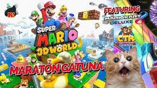 MARATÓN DEL GATO TÓN -  SUPER MARIO 3D WORLD FEAT. MARIO KART 8 Y CTR!