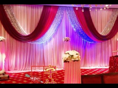 Wedding Stage Backdrop Decoration Youtube