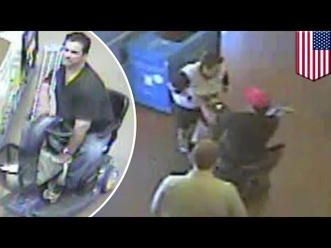 Walmart robbery caught on tape: shoplifter runs away on motorized scooter in Arizona - TomoNews