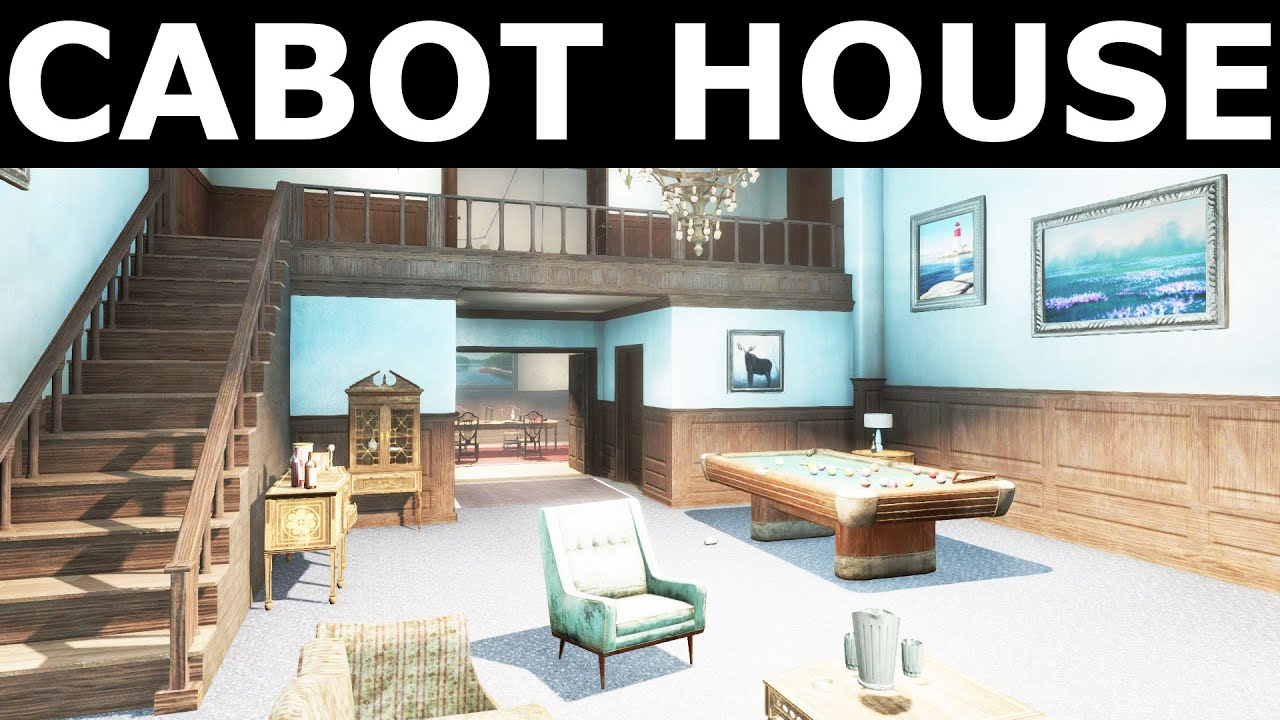Fallout 4   All Companions Comments   Cabot House (Exterior And Interior)
