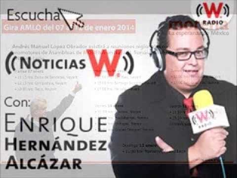 Entrevista AMLO Noticias W 09 ENERO 2014