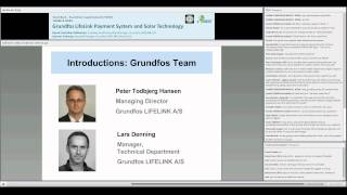 Webinar #7: Grundfos LifeLink Payment System and Solar Technology