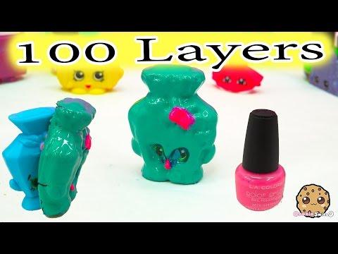 100 Layers Coats of Nail Polish On Big Mcdonalds Happy Meal Shopkins Toy