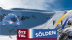 //Sölden, mit über 130 km/H den Weltcup-Hang runter// PISTE 31