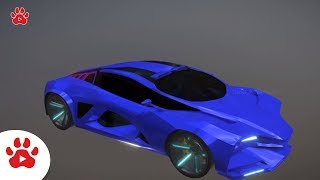 Ford Mustang Lada Raven Hilux Lancia Hover Car | Super Cars for Kids | #h Colour Song for Kids