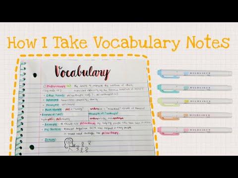 Cách Ghi Chép Từ Vựng Tiếng Anh Hiệu Quả| Nên DÙNG TỪ ĐIỂN Nào? |Sổ Tay Học TừVựng (Take Notes) [P2]