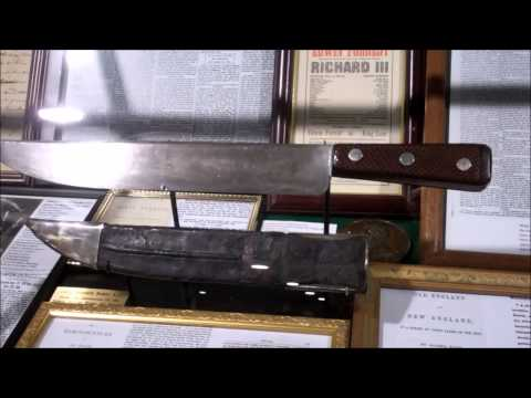 knives of note the quest for the original Bowie knife James and Rezin Bowie display okca 2015