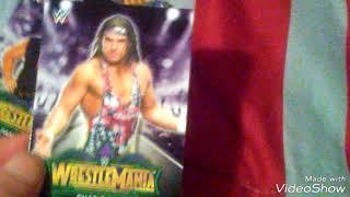 WWE wrestlemania 34 training card unboxing