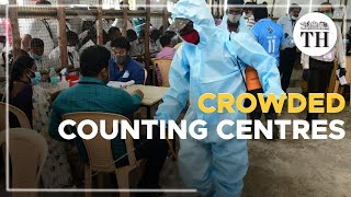 Crowds at counting centres cause worry