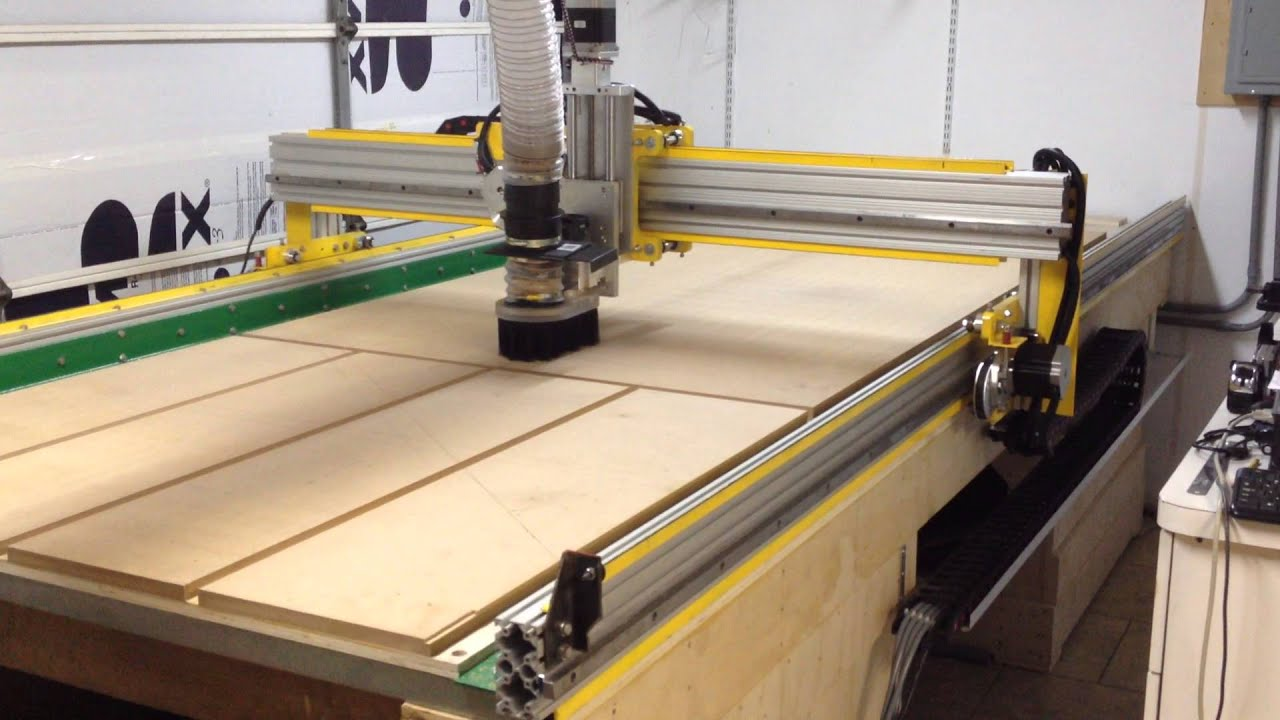13' X 6' CNC Router - Planing the table - YouTube