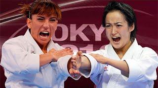 Sandra Sanchez (ESP) vs Kiyou Shimizu (JPN). Tokyo Karate1Premier League 2019 Gold Medals