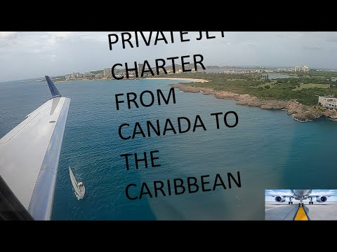 Private Jet Charter Toronto, Canada - St Maarten, Caribbean, SXM, Aircraft, Embraer Phenom300  GOPRO