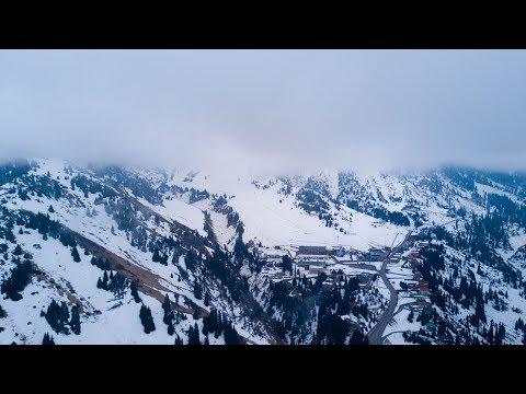 Туманно-облачный мартовский Шымбулак и его окрестности.
