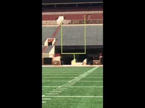 Texas Longhorns Kicker Nick Rose 80-Yard Field Goal at Practice