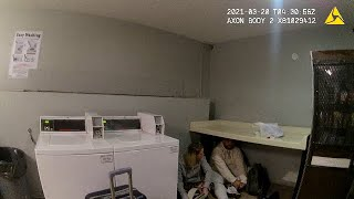 Security Guard Finds Homeless Guy And Friend Loitering In Laundry Room