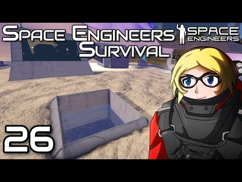 Building an underground hanger - Space Engineers Survival Gameplay - 26