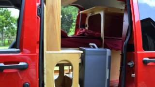Crazy Teeny Tiny DIY Ford Transit Connect Camper RV Conversion