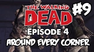 The Walking Dead Walkthrough Episode 4: Part 9 Zombie Attack - Let's Play PS3 Xbox PC